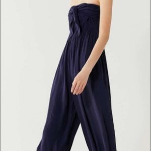 Urban Outfitters Candy TieFront Strapless Jumpsuit
